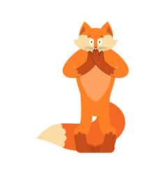 fox scared omg animal oh my god emotion vector image