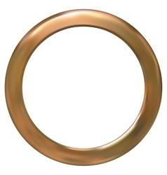 Frame gold ring vector