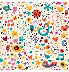Fun cartoon pattern 12 vector
