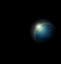 Globalization concept with the earth vector