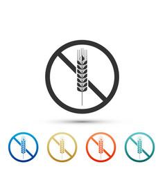Gluten free grain icon isolated no wheat sign vector