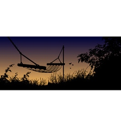 hammock in the shadows vector image