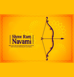 Happy ram navami festival wishes card background vector