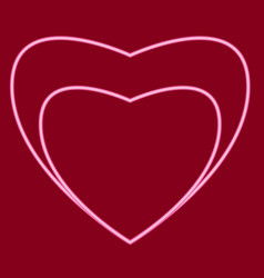 Heart with a heart inside vector