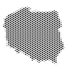 Hex-tile poland map vector