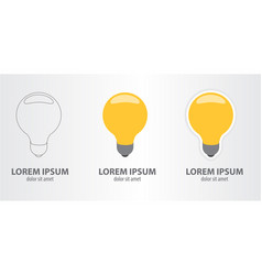 icon of a lamp vector image