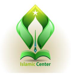 Islamic center symbol vector