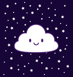 kawaii cloud design vector image