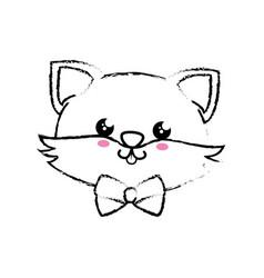 Kawaii fox icon vector