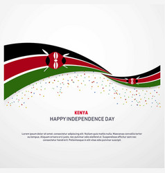 Kenya happy independence day background vector