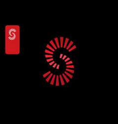 letter s with with dynamic rotation symbol vector image