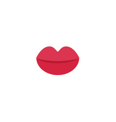 lips flat icon vector image