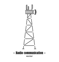 Logotype for radio communication vector