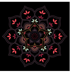 lotus flower geometric mandala vector image