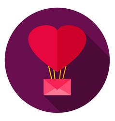 Love air balloon circle icon vector