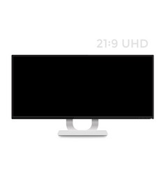 monitor mockup on white realistic display vector image