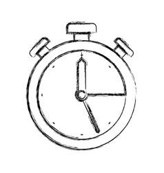 monochrome blurred silhouette of antique alarm vector image