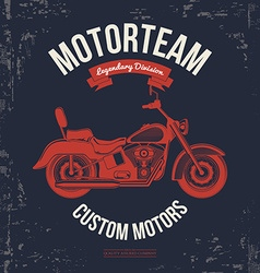 Motorcycle vintage graphics Road Trip t-shirt vector