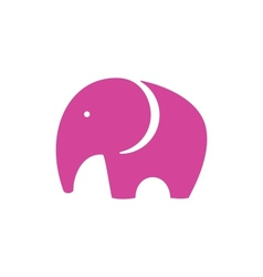 Pink Elephant Icon vector image