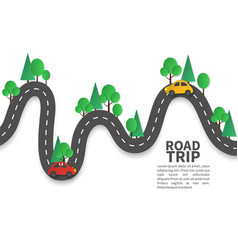Road with pins winding road with pin vector