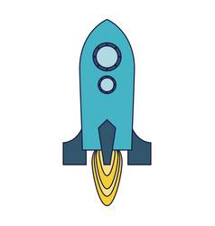 rocket taking off symbol vector image