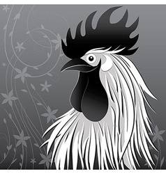 Rooster bird concept of Chinese New Year of the vector image