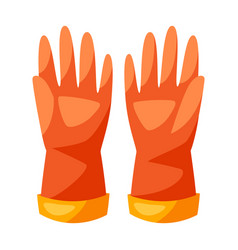 Rubber gloves for cleaning vector
