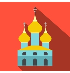 Russian orthodox church flat icon vector image