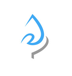 save water symbol icon vector image