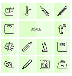 scale icons vector image