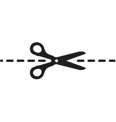 scissors cut icon template design vector image