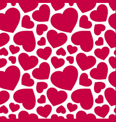 seamless pattern with red hearts valentines day vector image