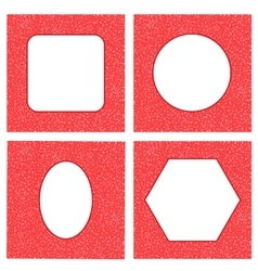 Set of Different Red Hearts Frames vector image
