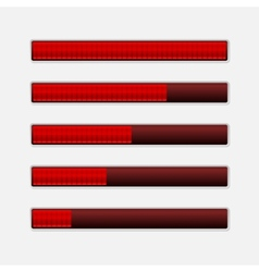 Set of Progress Bars Loading Bars vector