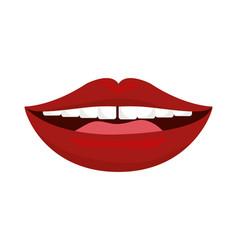 sexy lips cartoon vector image