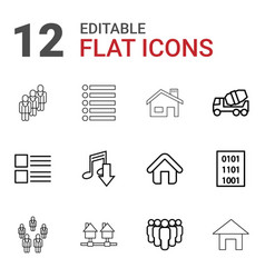 site icons vector image