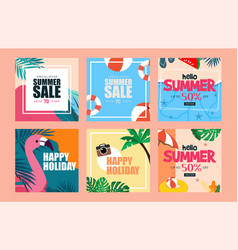 summer vibe web design template vector image