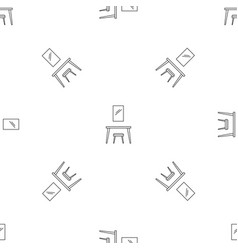 table mirror pattern seamless vector image