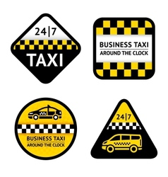 Taxi - set labels vector image vector image