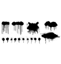 template spray graffiti hand drawn stencil vector image