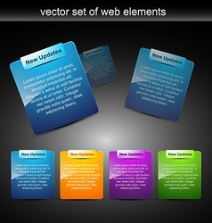 Web elements for web projects vector