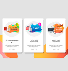web site onboarding screens online education vector image