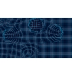 Wireframe mesh landscape background futuristic vector