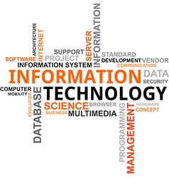 Word cloud information technology vector