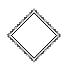 Isolated argyle diamond vector image