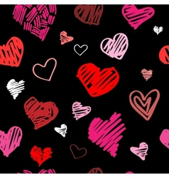 Love pattern background vector image