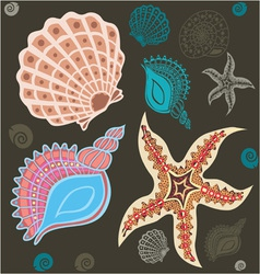 sea paradise set2 vector image