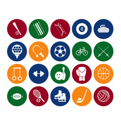 sport icon signs and symbols set color in the vector image