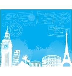 Travel europe background vector image