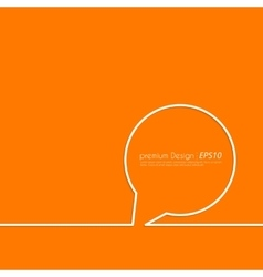 a linear Speech Balloon vector image